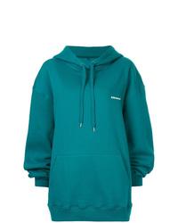 Sudadera con capucha en verde azulado de Ader Error