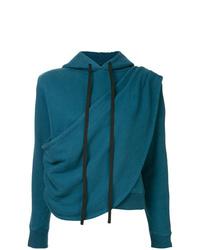 Sudadera con capucha en verde azulado de Unravel Project
