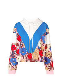 Sudadera con capucha en zig zag en multicolor de Vivetta
