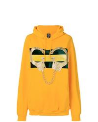 Sudadera con capucha estampada amarilla de Nil & Mon