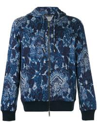 Sudadera con capucha estampada azul marino de Etro