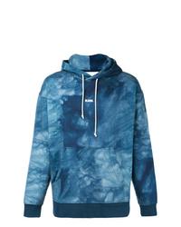 Sudadera con capucha estampada azul de G-Star Raw Research