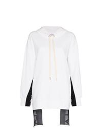 Sudadera con capucha estampada blanca de Stella McCartney