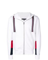 Sudadera con capucha estampada blanca de Tommy Hilfiger
