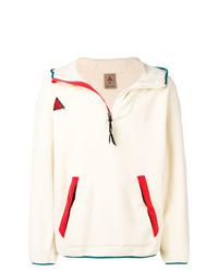Sudadera con capucha estampada en beige de Nike