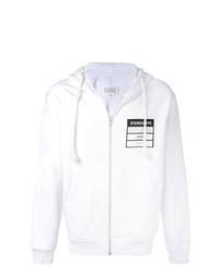 Sudadera con capucha estampada en blanco y negro de Maison Margiela