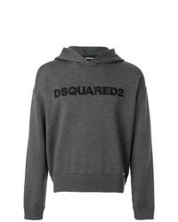 Sudadera con capucha estampada en gris oscuro de DSQUARED2