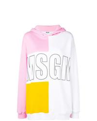 Sudadera con capucha estampada en multicolor de MSGM