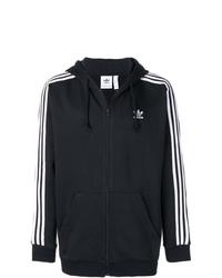 Sudadera con capucha estampada en negro y blanco de adidas
