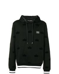 Sudadera con capucha estampada en negro y blanco de Dolce & Gabbana