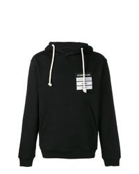 Sudadera con capucha estampada en negro y blanco de Maison Margiela