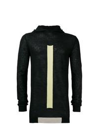 Sudadera con capucha estampada en negro y blanco de Rick Owens