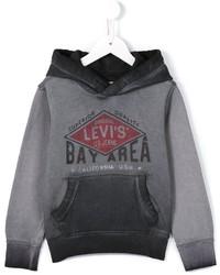 Sudadera con capucha estampada gris de Levi's
