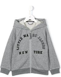 Sudadera con capucha estampada gris de Little Marc Jacobs