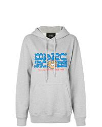 Sudadera con capucha estampada gris de Marc Jacobs
