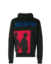Sudadera con capucha estampada negra de DSQUARED2