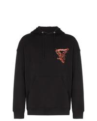 Sudadera con capucha estampada negra de Givenchy
