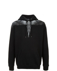 Sudadera con capucha estampada negra de Marcelo Burlon County of Milan