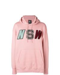 Sudadera con capucha estampada rosada de Nike