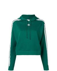 Sudadera con capucha estampada verde oscuro de adidas