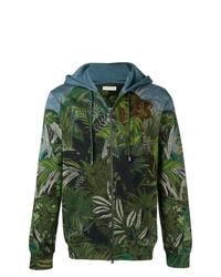 Sudadera con capucha estampada verde oscuro de Etro