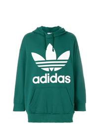 Sudadera con capucha estampada verde de adidas