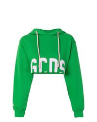 Sudadera con capucha estampada verde de Gcds