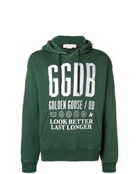 Sudadera con capucha estampada verde de Golden Goose Deluxe Brand