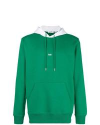 Sudadera con capucha estampada verde de Helmut Lang