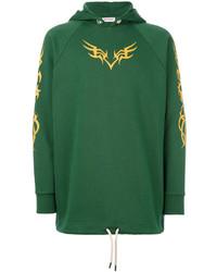 Sudadera con capucha estampada verde de Palm Angels