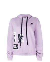 Sudadera con capucha estampada violeta claro de Damir Doma