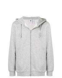 Sudadera con capucha gris de adidas