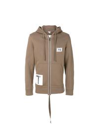 Sudadera con capucha marrón claro de Helmut Lang