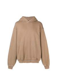 Sudadera con capucha marrón claro de Yeezy