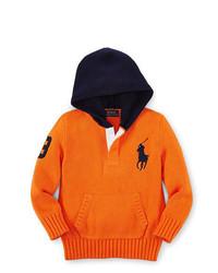 Sudadera con capucha naranja