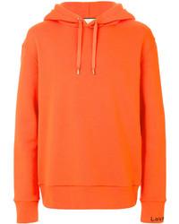 Sudadera con capucha naranja de Gucci