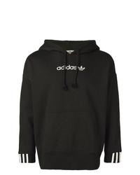 Sudadera con capucha negra de adidas