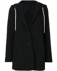 Sudadera con capucha negra de Helmut Lang