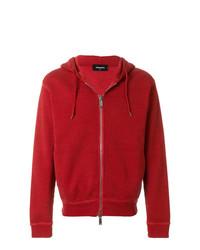 Sudadera con capucha roja de DSQUARED2