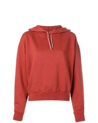 Sudadera con capucha roja de Eckhaus Latta
