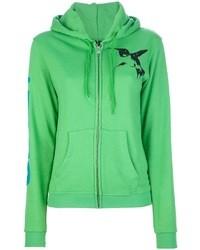 Sudadera con capucha verde de Freecity