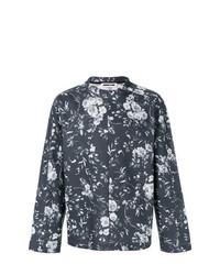 Sudadera con print de flores en gris oscuro de McQ Alexander McQueen