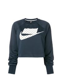 Sudadera estampada azul marino de Nike