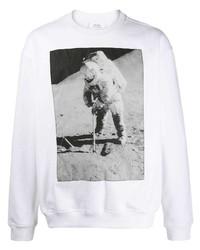 Sudadera estampada en blanco y negro de Calvin Klein Jeans Est. 1978