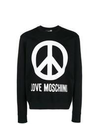 Sudadera estampada en negro y blanco de Love Moschino