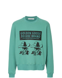 Sudadera estampada en verde menta de Golden Goose Deluxe Brand