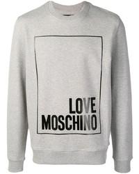 Sudadera estampada gris de Love Moschino