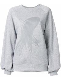 Sudadera estampada gris