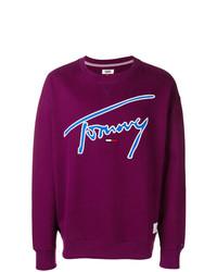 Sudadera estampada morado oscuro de Tommy Jeans