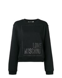 Sudadera estampada negra de Love Moschino